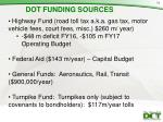 dot funding sources