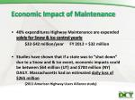 economic impact of maintenance