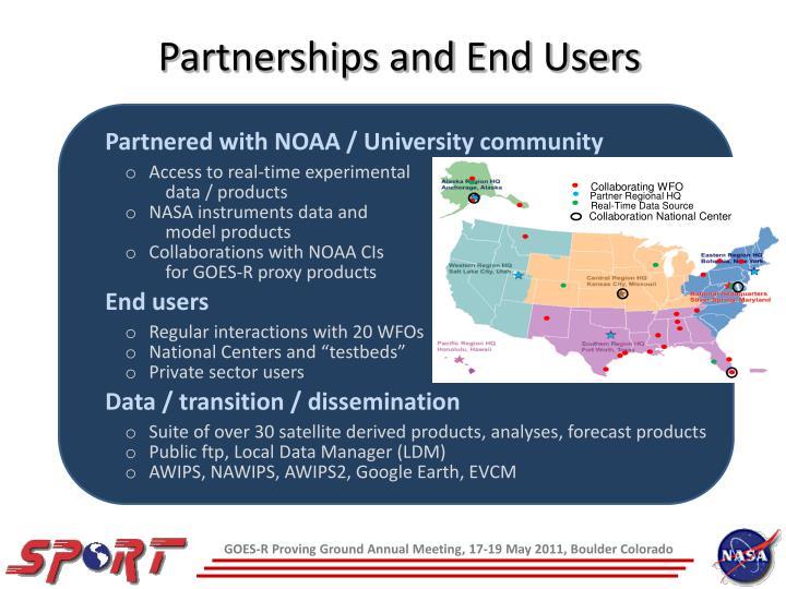 Partnered with NOAA / University community