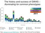 the history and success of gwas illuminating for common phenotypes4