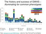 the history and success of gwas illuminating for common phenotypes5