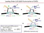 leading order lo qcd factorization of dves