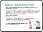 stage 1 reward punishment