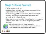 stage 5 social contract