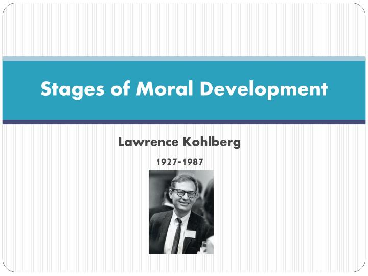 stages of moral development n.