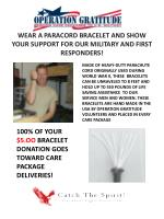 100 of your 5 oo bracelet donation goes toward care package deliveries
