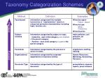 taxonomy categorization schemes