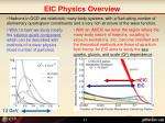 eic physics overview