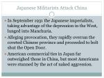 japanese militarists attack china