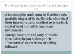 the great crash ends the golden twenties1