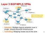 layer 3 bgp mpls vpns