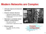modern networks are complex