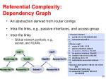 referential complexity dependency graph