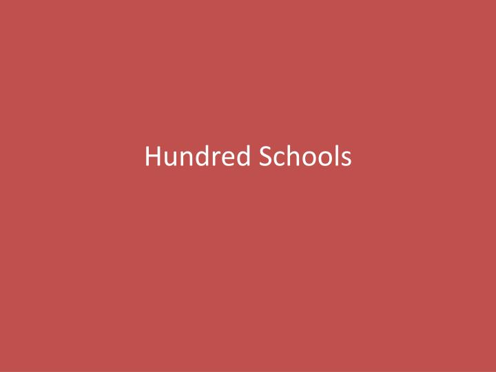 hundred schools n.