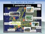 site studies in europe