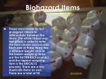 biohazard items