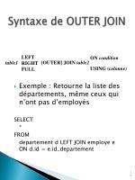 syntaxe de outer join