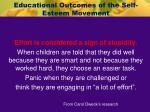 educational outcomes of the self esteem movement