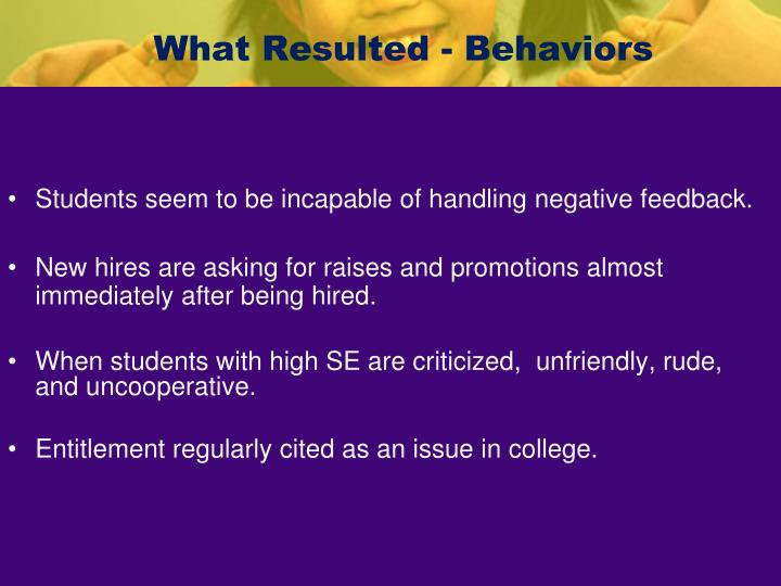 What Resulted - Behaviors