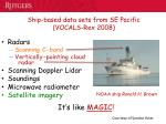 ship based data sets from se pacific vocals rex 2008
