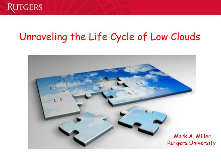 unraveling the life cycle of low clouds n.