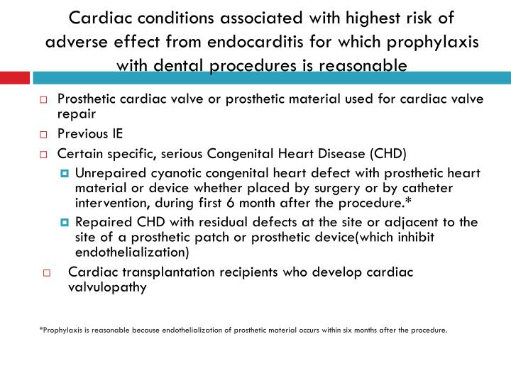 Cardiac conditions associated with highest risk of adverse effect from