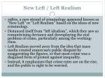 new left left realism
