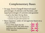 complementary bases