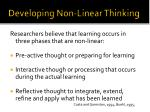 developing non linear thinking