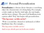 personal personification