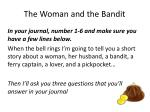 the woman and the bandit