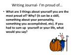 writing journal i m proud of
