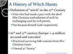 a history of witch hunts