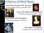 a history of witch hunts1