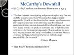 mccarthy s downfall1