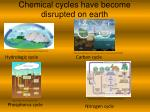 chemical cycles have become disrupted on earth1