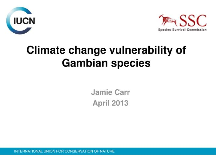 climate change vulnerability of gambian species n.