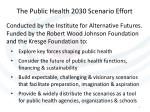 the public health 2030 scenario effort