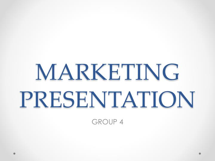 marketing presentation n.