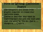 form of writing definition poetry1