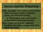 kendra reeves prewriting
