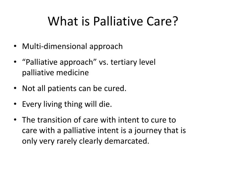 approaches to palliative care Anthony milonas is chief operating officer at cbi health group, where they offer  an integrated approach to connect the dots for palliative care service.
