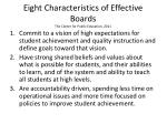 eight characteristics of effective boards the center for public education 2011