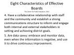 eight characteristics of effective boards the center for public education 20111