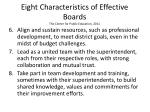 eight characteristics of effective boards the center for public education 20112