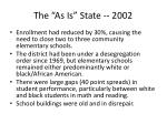 the as is state 2002