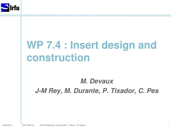 wp 7 4 insert design and construction n.