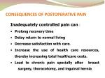 consequences of postoperative pain
