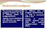 multimodal analgesia