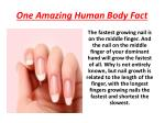 one amazing human body fact